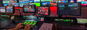 sports and live events broadcast control rooms