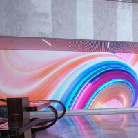 JLL's Aon Center LED Lobby Space
