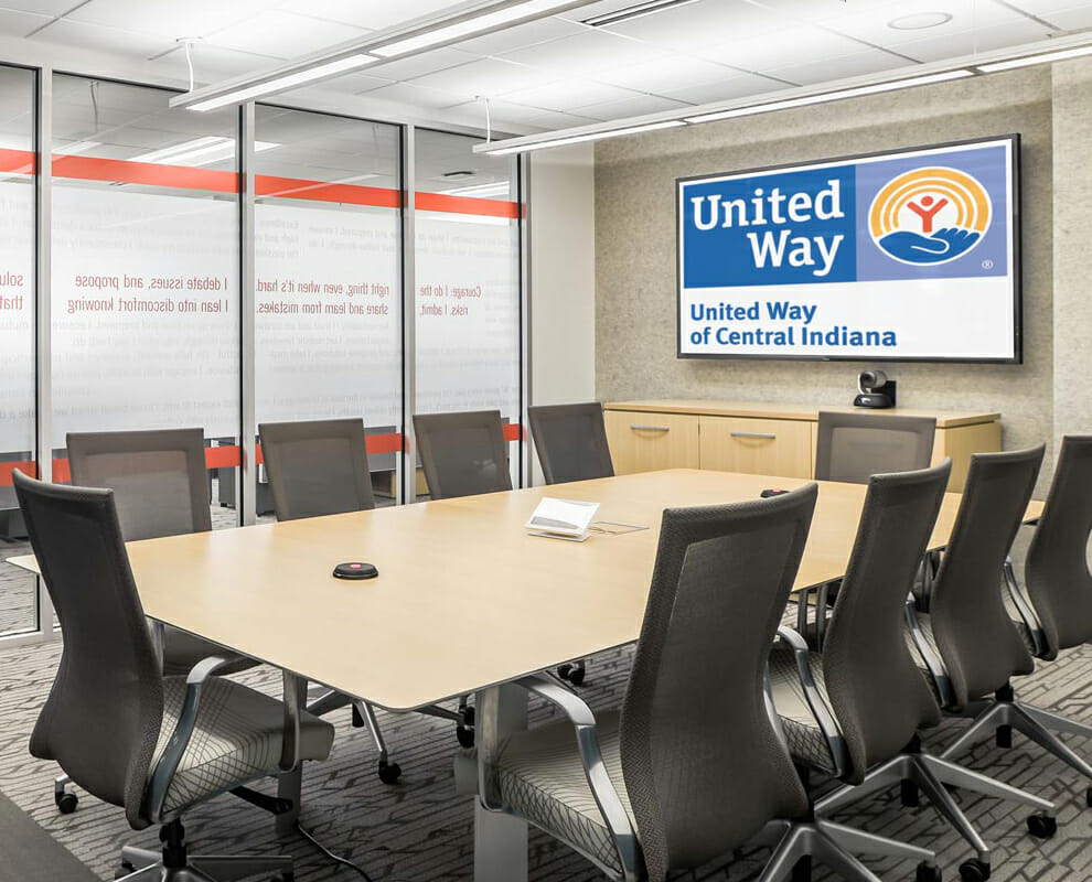 United Way LCD flat panel display