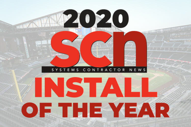 Diversified Wins SCN Install of the Year for Globe Life Field